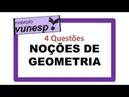 Vunesp - Noções de Geometria: forma, perímetro, área, volume, teorema de Pitágoras, Prova Sap-SP