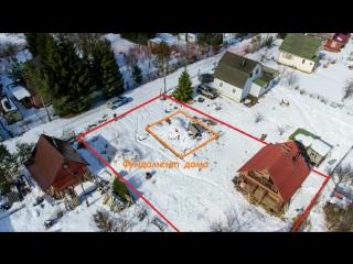 Дом-баня с фундаментом на участке 6 соток Новая Ропша
