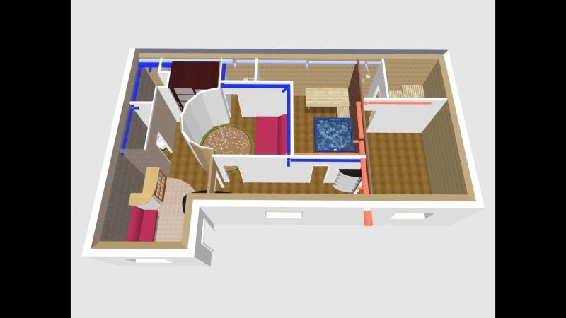 3D моделирование, массажный салон.