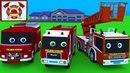 Развивающие мультфильмы. Про пожарную машину. Пожарная машина и станция. Мультики про машинки.