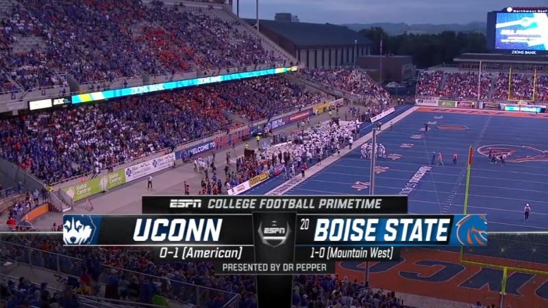 NCAAF 2018 / Week 02 / UConn Huskies - (20) Boise State Broncos / 1H / EN