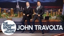 Gottis John Travolta Does His Iconic Grease Dance with Jimmy to Celebrate the 40th Anniversary