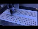 3 впрыска за 1 секунду:Нанесение эпоксидной смолы линзы на на изделие
