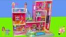 Barbie Dolls: Dollhouse Furniture w/ Bedroom, Kitchen Bathroom | Dreamhouse Doll Toys for Kids
