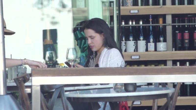 Mara Teigen grabs a bite to eat in Beverly Hills