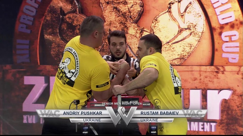Pushkar vs Babayev Zloty Tur 2016 right hand
