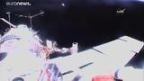 16.08.18. Олег Артемьев и Сергей Прокопьев в открытом космосе.