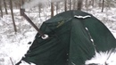 Одиночный зимний поход с палаткой и печкой.