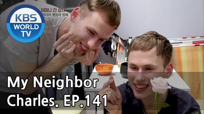 My Neighbor, Charles | 이웃집 찰스 Ep.141 / Decalcomania Twins GenyOleg from Russia. [ENG/2018.05.25]