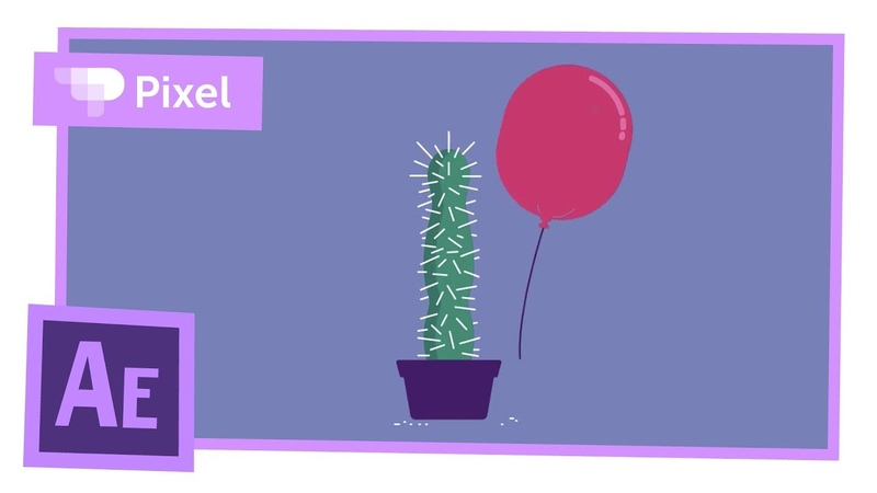 Анимация шарика и кактуса в After Effects