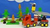 Строим из Lego Duplo, Play toys Lego, Unboxing, LEGO DUPLO 10592 Fire Truck - Пожарная машина