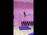 Pole dance. Трюк Лебедь. Анна Ларионова