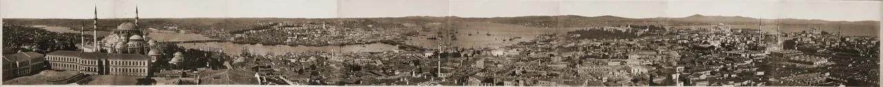 Панорамная фотография Стамбула, 1870-е гг.