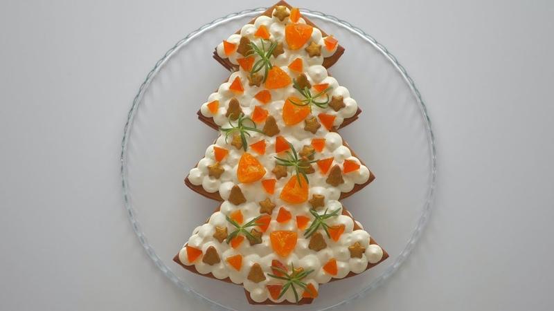Торт медовый Ёлка Простой, эффектный, нарядный.