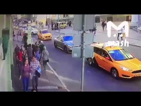 Наезд таксиста из Киргизии на пешеходов в Москве