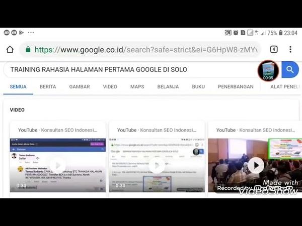 Belajar Rahasia Halaman Pertama Google Di Solo, Kata Kunci ke 4 Sudah Muncul Di Halaman Satu Google