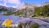 4K UHD Mountain Lake Relaxation Video ( 3 Hours ) Enchantment Lakes, Washington