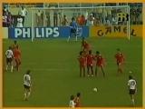 ЧМ-1986. Лотар Маттеус (ФРГ) - мяч в ворота Марокко