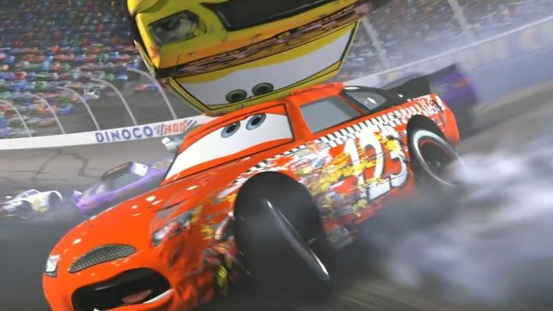Чико Хикс устраивает аварию на Динако 400. Тачки (2006)