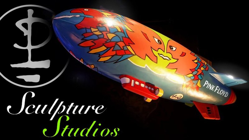 Pink Floyd Division Bell Airship - Polystyrene / Styrofoam Carving by Sculpture Studios