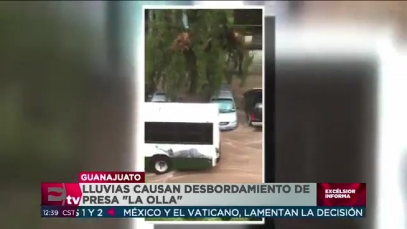 Se desborda la presea La Olla e inunda la ciudad de Guanajuato