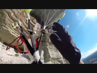 Friday Freakout- BASE Jumper Saves Himself From Cliff Strike
