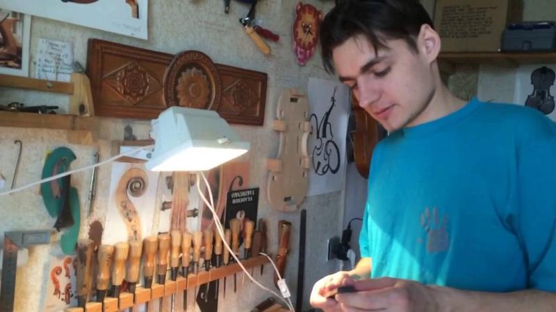 Смена грифа на скрипке. Ремонт для клиента.