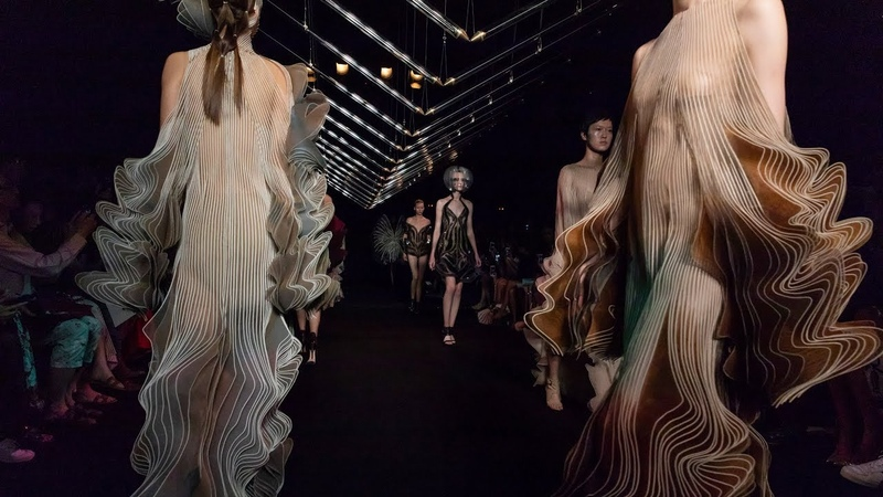 Iris van Herpen translates motion of bird flight into pleated garments