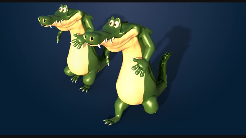 Croc Walk Cycle