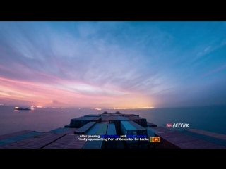 30 Days Timelapse at Sea _ 4K _ Through Thunderstorms, Torrential Rain  Busy Traffic