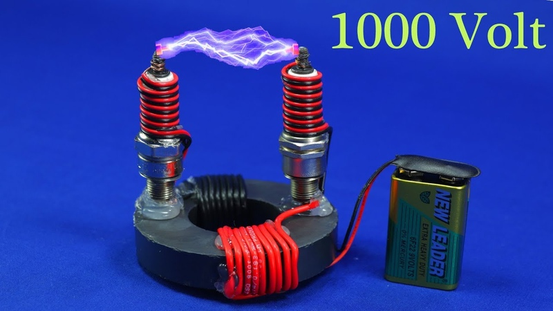 FREE ENERGY HIGH VOLTAGE GENERATOR 9V TO 1000 WATT NEW TECHNOLOGY 2019 NEW ELECTRICITY PROJECT