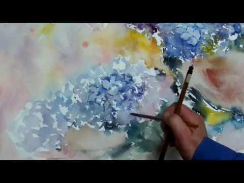Hedwigs Art Hydrangeas watercolor