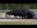 Уход от опасности на заднем ходу лимузин Президента США