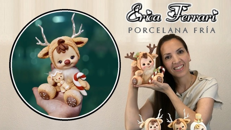 🐶 Erica Ferrari Porcelana Fría Muñeco de Navidad Clase Gratis DIY Tutorial Fácil