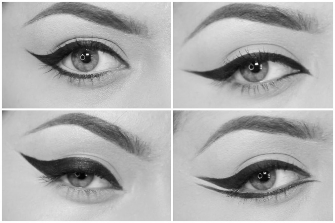 4 different eyeliner styles