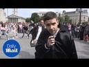 Liam Payne DJ Zedd surprise fans busking in Trafalgar Square - Daily Mail