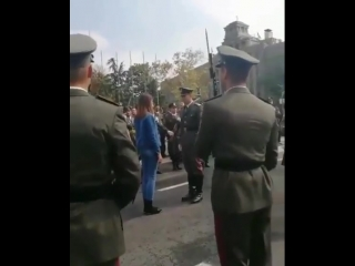 Proposing - military style
