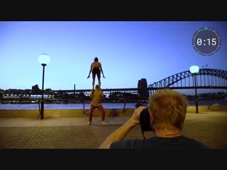 Фотосессия с акробатами за 10 минут?! /CIRQUE DU SOLEIL IN AUSTRALIA/