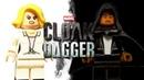 Как сделать минифигурки Плаща и Кинжала - LEGO Cloal Dagger minifigures!