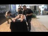 Rimini wellness 2018 con accademia del massaggio di Antonio Cerrone stand di Gen