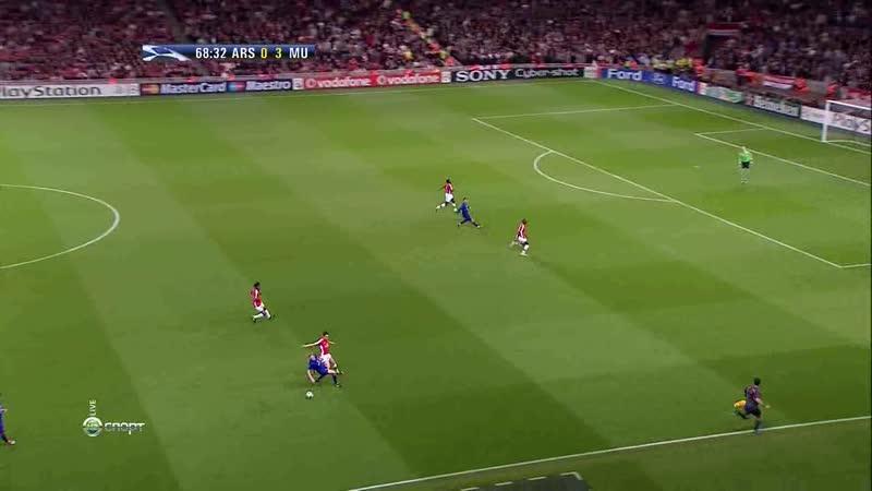 лига чемпионов 2008 2009 1 2 финала 2 й матч Арсенал Манчестер юнайтед нтв 2 й тайм