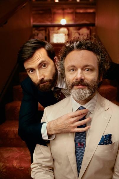 David Tennant & Michael Sheen British Airways High Life Magazine, 2019