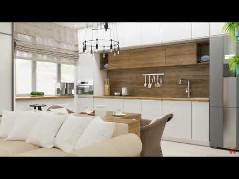 Дизайн двухкомнатной квартиры для молодой пары, 65 м кв