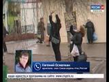 Необычная гостья_ сова на дереве немало удивила посетителей мини-рынка по улице