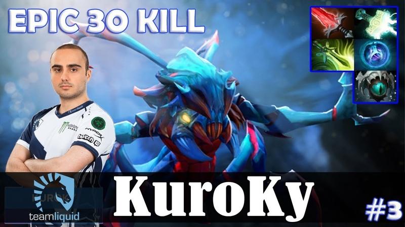 KuroKy - Weaver Safelane | EPIC 20 KILL | Dota 2 Pro MMR Gameplay 3