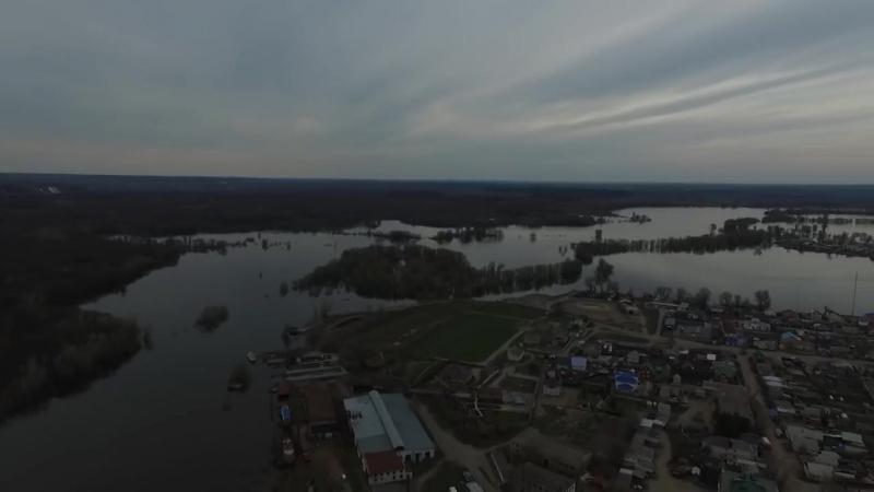 Половодье с высоты Павловск 2018