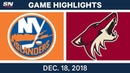 NHL Highlights | Islanders vs. Coyotes - Dec 18, 2018