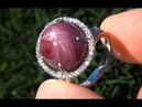Vintage 1960's Star Ruby Diamond Ring Being Auctioned on eBay