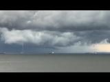Два водяных смерча в Финском заливе ( Лебяжье, Ленинградская область, 12.08.2018)