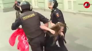 МИТИНГ ПРОТИВ ПЕНСИОННОЙ РЕФОРМЫ. МОСКВА.